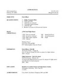 Pilot Resume by Professional Pilot Resume Professional Pilot Resume Doc Pilot