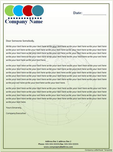 17 Company Letterhead Templates Excel Pdf Formats Company Letterhead Template Word 2