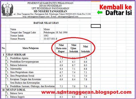format daftar hadir ujian sekolah format nilai ujian sekolah dan ujian nasional 2012