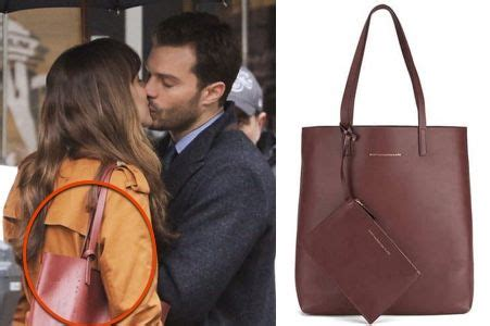 Dakota Johnson Tote Bag fifty shades darker s maroon leather tote