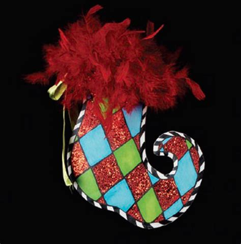harlequin stocking ornament happy holidayware