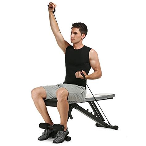 ancheer adjustable weight bench sit up incline decline