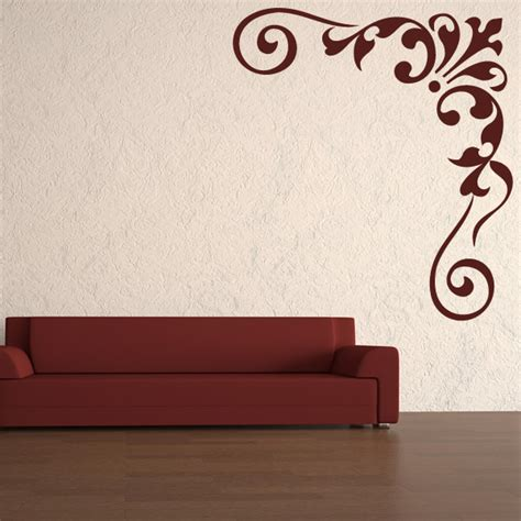 celtic vine corner giant wall decoration wall stickers store uk vine corner floral embellishment wall stickers wall art