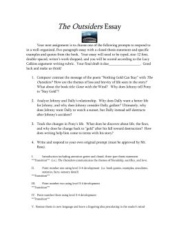 book report on the outsiders the outsiders book report essay ideal vistalist co