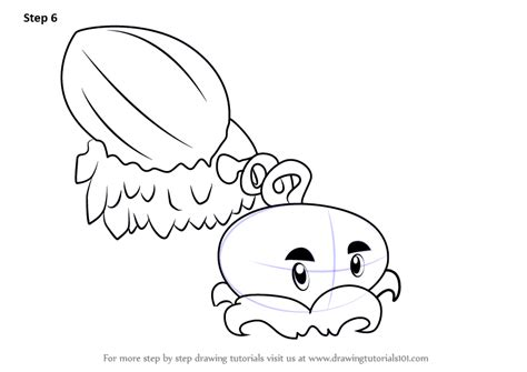 winter melon coloring page learn how to draw winter melon from plants vs zombies