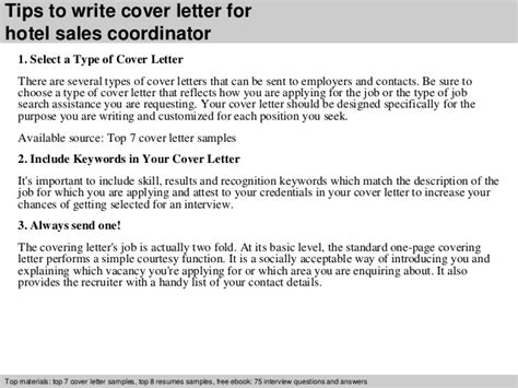 sales coordinator cover letter hotel sales coordinator cover letter