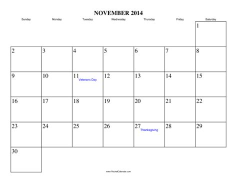 printable calendar 2014 november november 2014 calendar printable with holidays printable