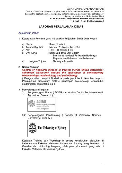 Contoh Surat Perjalanan Dinas by Contoh Laporan Perjalanan Dinas Laporan Perjalanan Dinas