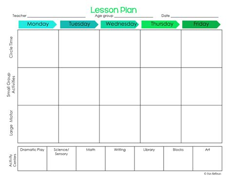 Preschool Ponderings Make Your Lesson Plans Work For You Toddler Lesson Plan Template