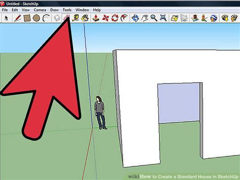how to design a house on google sketchup how to create a standard house in sketchup 8 steps