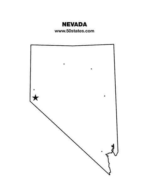blank map  nevada find  map     states