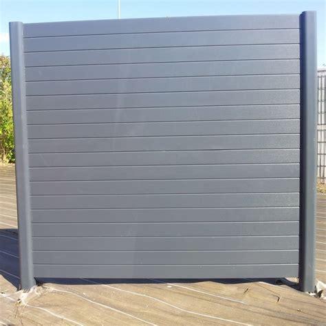 Panneau Pvc Blanc 67 brise vue pvc plein portail cloture de