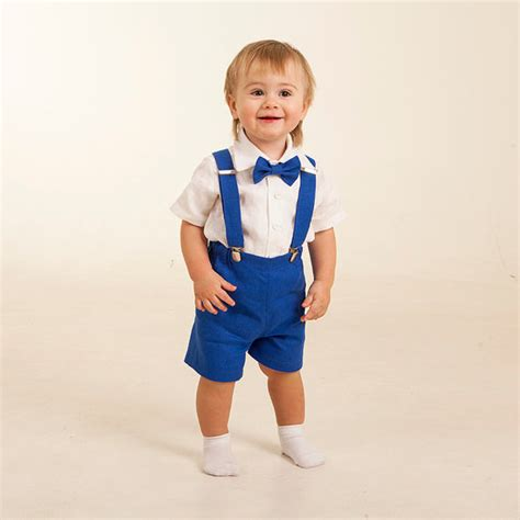Royale Bebe Cloth ring bearer royal blue boy boy shorts with