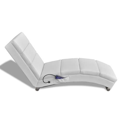 electric massage couch vidaxl co uk white artificial leather electric massage chair