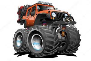 Jeep Caricature 4x4 Road Jeep Illustration Stock Vector