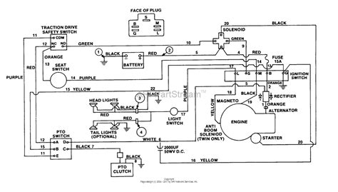 homelite yt12 tractor ut 33009 parts diagram for wiring