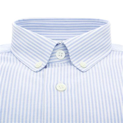 Button Collar Oxford Shirt white button collar oxford shirt with light blue