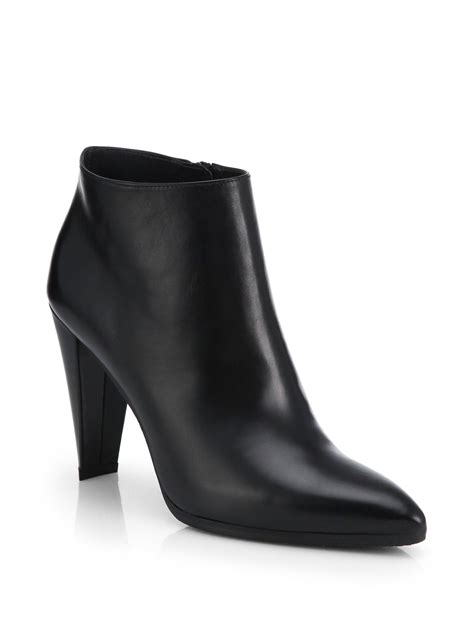 stuart weitzman ankle boots stuart weitzman carltone leather ankle boots in black lyst