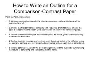 Compare And Contrast Essay Outline by Introduction For Compare And Contrast Essay