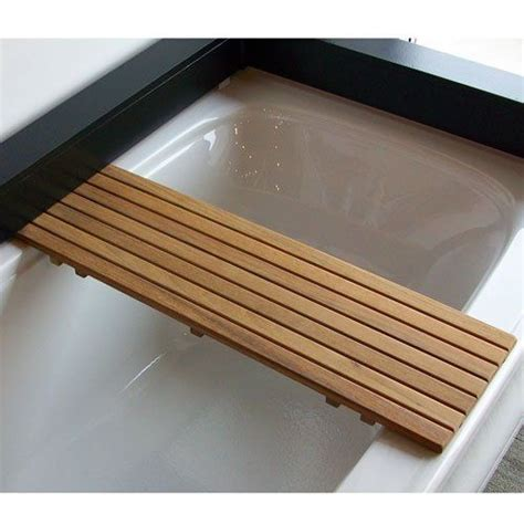 teak bathtub shelf pin by allison skousen on master bath pinterest