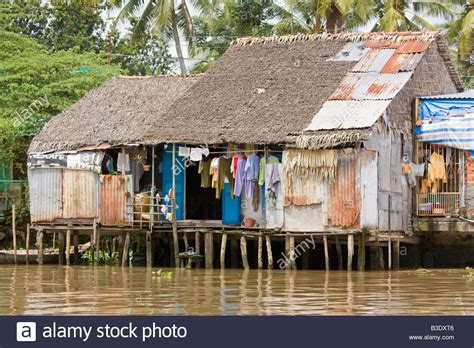 buy a house in vietnam a typical floating house in the mekong delta southern vietnam stock photo royalty