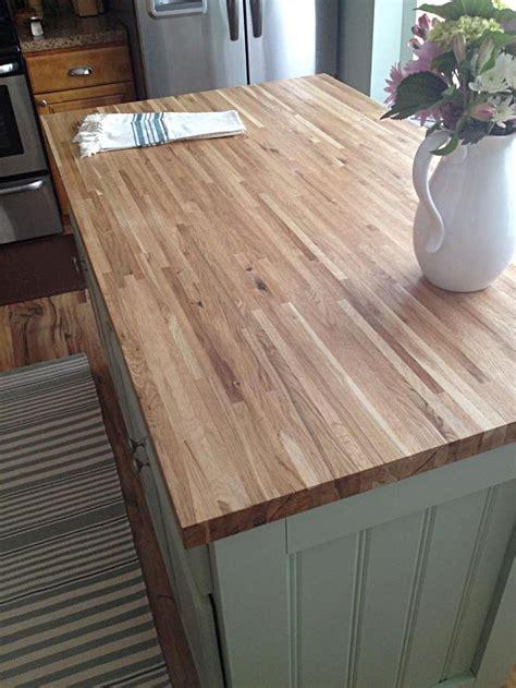builder s oak butcher block island top from lumber liquidators kitchen chic pinterest