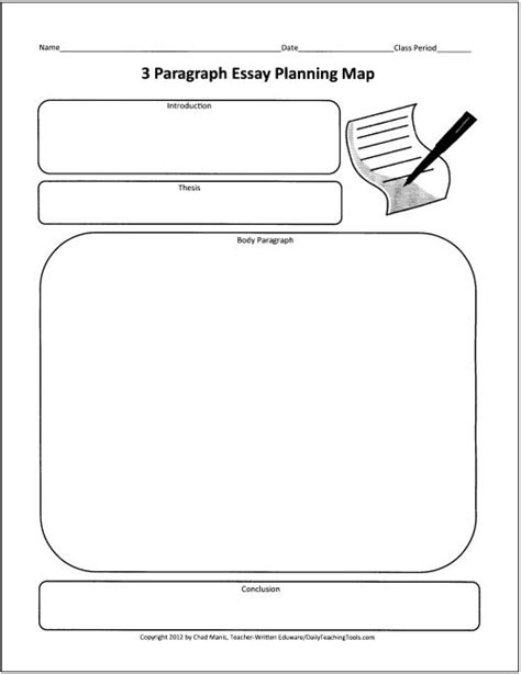 prewriting outline template beginning expository graphic organizer to guide students