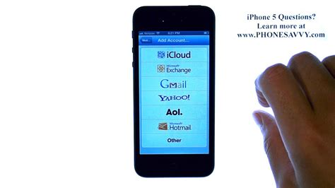 apple iphone 5 ios 6 how do i setup email or add additional email accounts