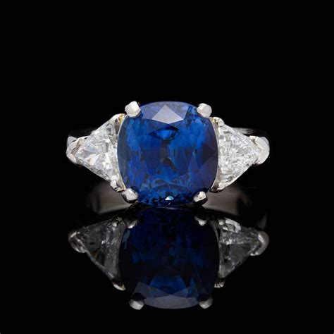 Blue Sapphire Madagascar Africa 3 agl madagascar 6 60 carat blue sapphire platinum ring for sale at 1stdibs