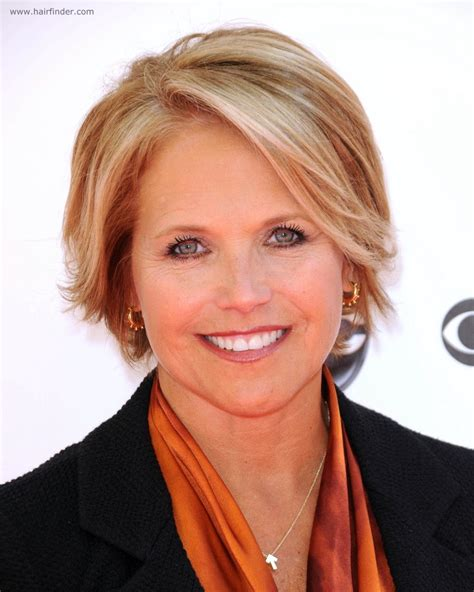 how to style katie couric hair katie couric with short hair for a professional look