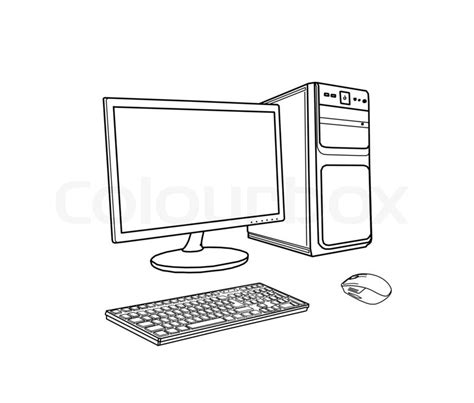 Drawing Computer by Drawing Computer Stock Photo Colourbox
