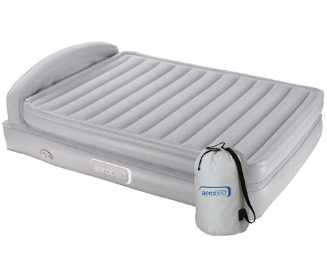 aerobed king comfort classic air bed raised with headboard from slumberslumber