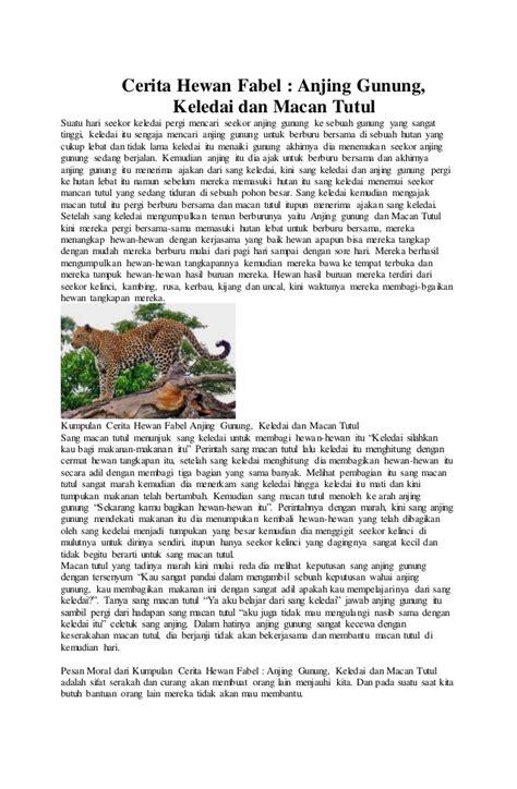 membuat cerita fantasi tentang hewan contoh macam macam teks kelas ix