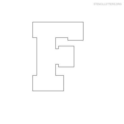 Galerry block letter f