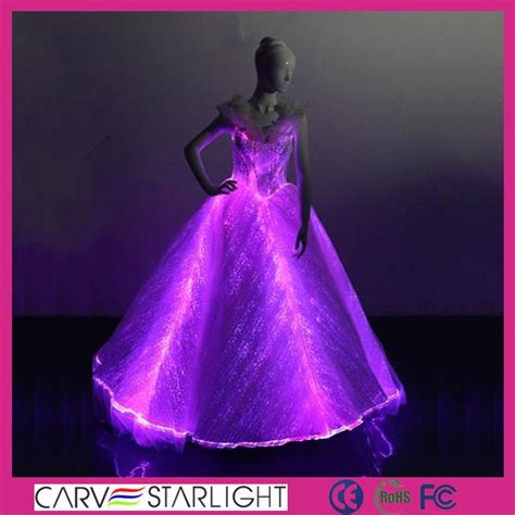 The light up glowing luminous LED optic fiber ball gown ... High Voltage Sign