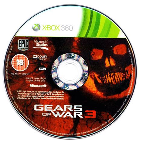 Kaset Xbox 360gear Of War 3 gears of war 3 2011 xbox 360 box cover mobygames
