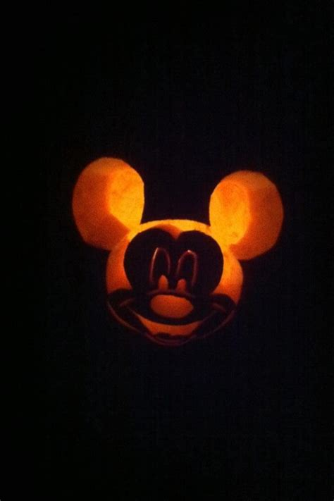 mickey mouse pumpkin carving autumn rein pinterest