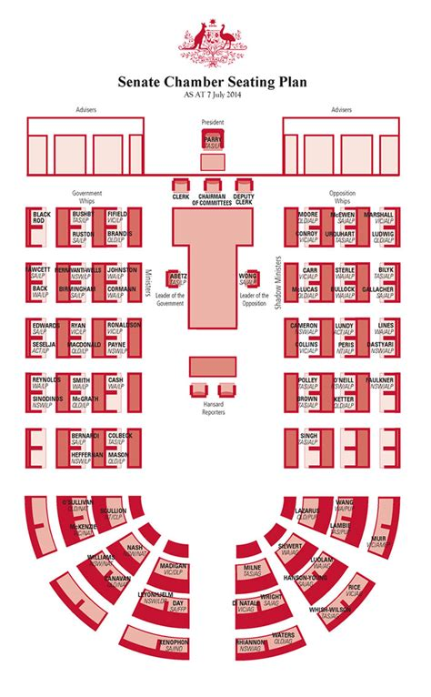 house of representatives floor plan parliament house canberra senate chamber floor plan