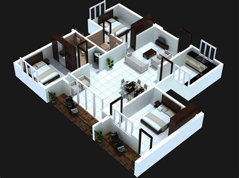 3 Bedroom House Floor Plans With Models by 3 Bedroom Apartment House Plans