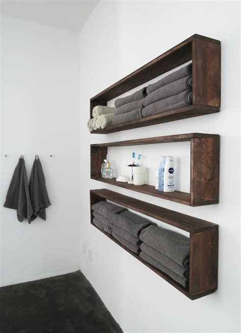 diy lite double bathroom storage with easy build box shelves ideas for small bathrooms model home decor