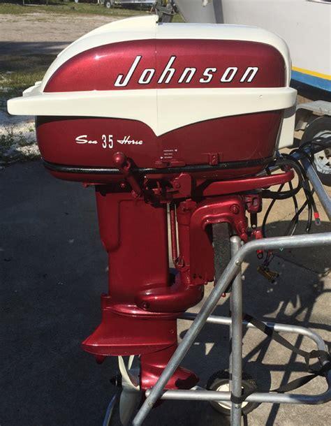 old johnson boat motors 1957 35 hp johnson restored outboard boat motor for sale