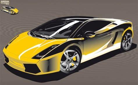 voiture de sport lamborghini illustration d une voiture de course lamborghini jaune
