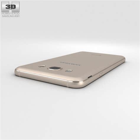 samsung galaxy j7 2016 gold 3d model hum3d