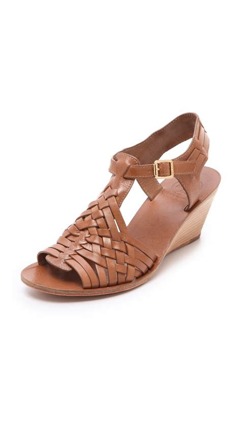 Sandal Deo 3 Marc Stuart Shoes burch wedge sandals in brown lyst