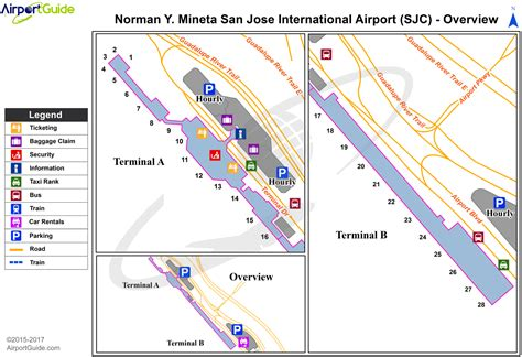 san jose international terminal map san jose norman y mineta san jose international sjc