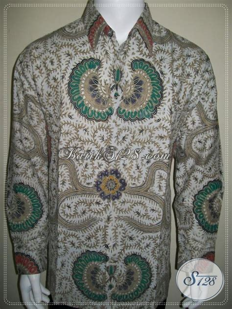 Batik Tulis Motif Babon Angkrem kemeja batik lengan panjang klasik modern motif babon