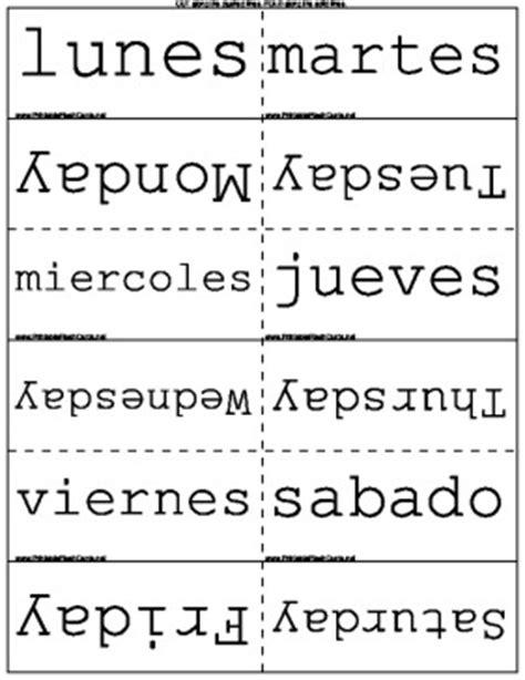 spanish english flashcards printable months seasons days in spanish english flash cards