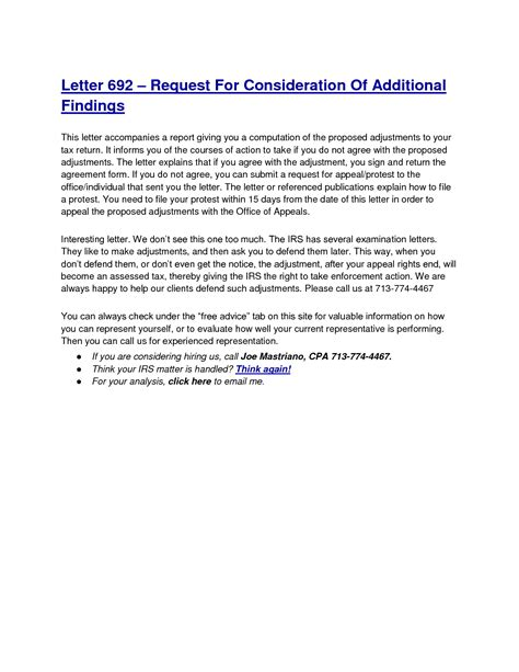 Appeal Letter For Consideration Sle Best Photos Of Irs Tax Appeal Letter Sle Irs Appeal Letter Sle Irs Protest Letter