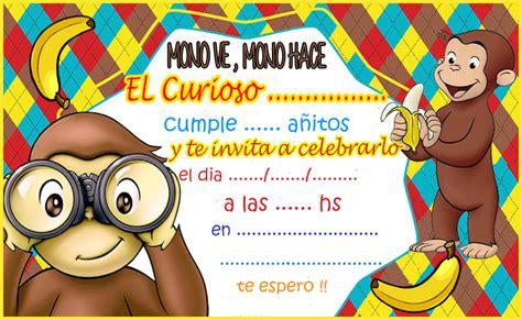 imagenes de cumpleaños jorge kit imprimible candy bar jorge el curioso para cumplea 241 os
