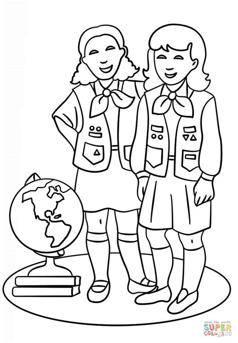 girl scouts coloring pages coloring home